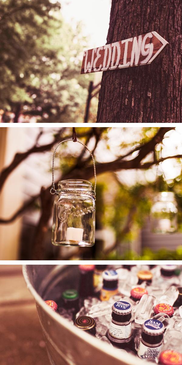 backyard wedding with handmade details   photos by jen yuson