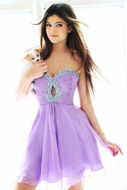 purple short prom