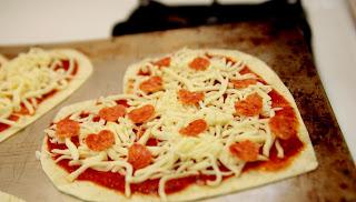 pizza em forma de coração