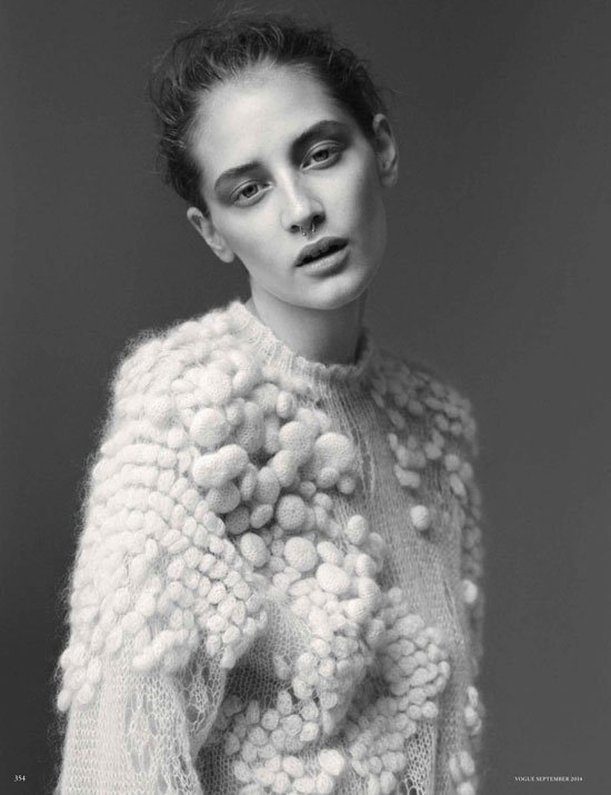 Melina Gesto in Made in Heaven   Vogue Germany September 2014 (photography: Thomas Lohr, styling: Nicola Knels)