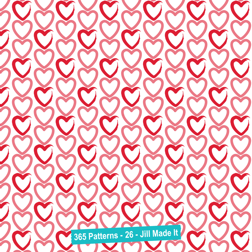 365 Patterns:  Painted Hearts
