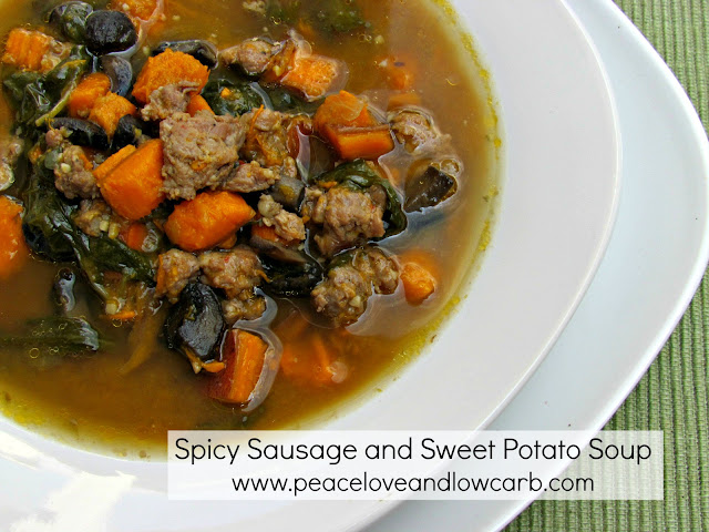 Spicy Sausage, Sweet Potato Soup - Low Carb, Gluten Free ...