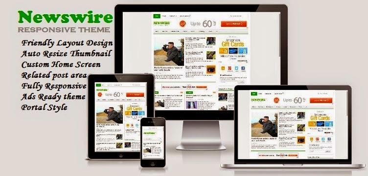 Newswire - Responsive Blogger Template untuk Blog Berita