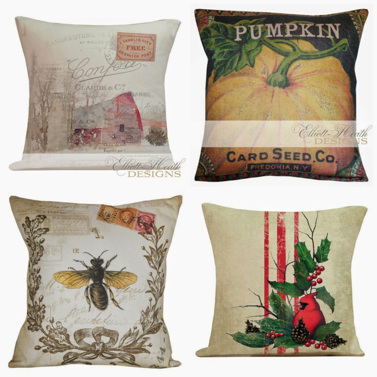 Graphic PIllows from Elliott-Heath Designs