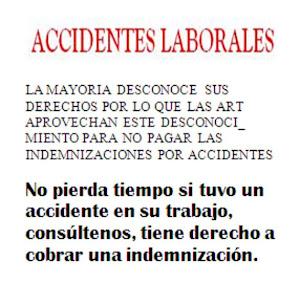 ¿USTED SUFRIO UN ACCIDENTE EN EL TRABAJO?