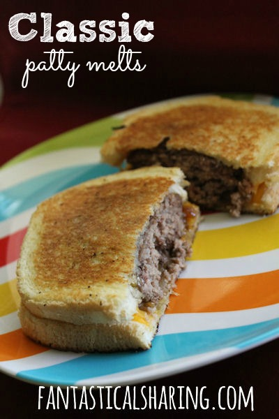 Classic Patty Melts | This is what happens when a hamburger and a grilled cheese sandwich get together and have a baby #sandwich
