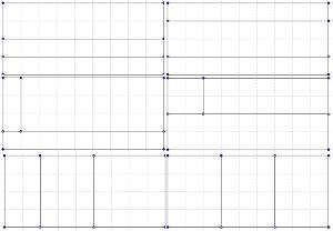 Tipos de cortes sobre un rectángulo