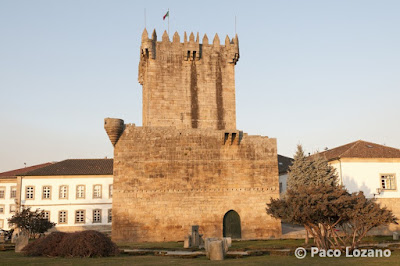 Keep of the medieval castle in Chaves