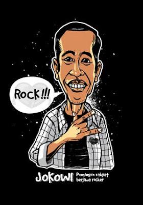 Jokowi - Karikatur Selebriti Indonesia
