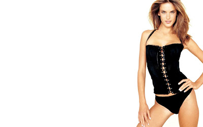 Alessandra Ambrosio Black White Wallpapers