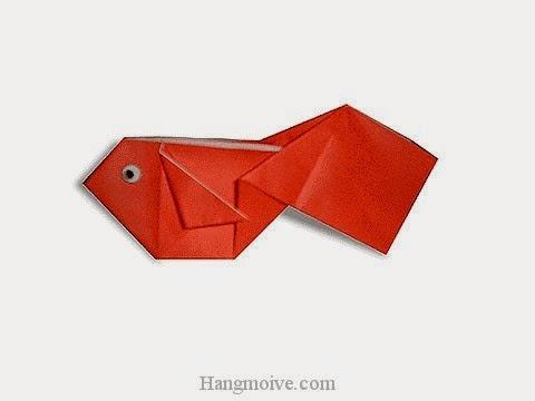 Cách gấp, xếp con cá vàng bằng giấy origami - Video hướng dẫn xếp hình sinh vật dưới nước - How to fold a Goldfish