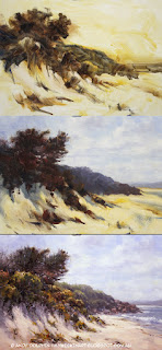 Misery Beach, Albany. Step by step seascape in oil by Andy Dolphin