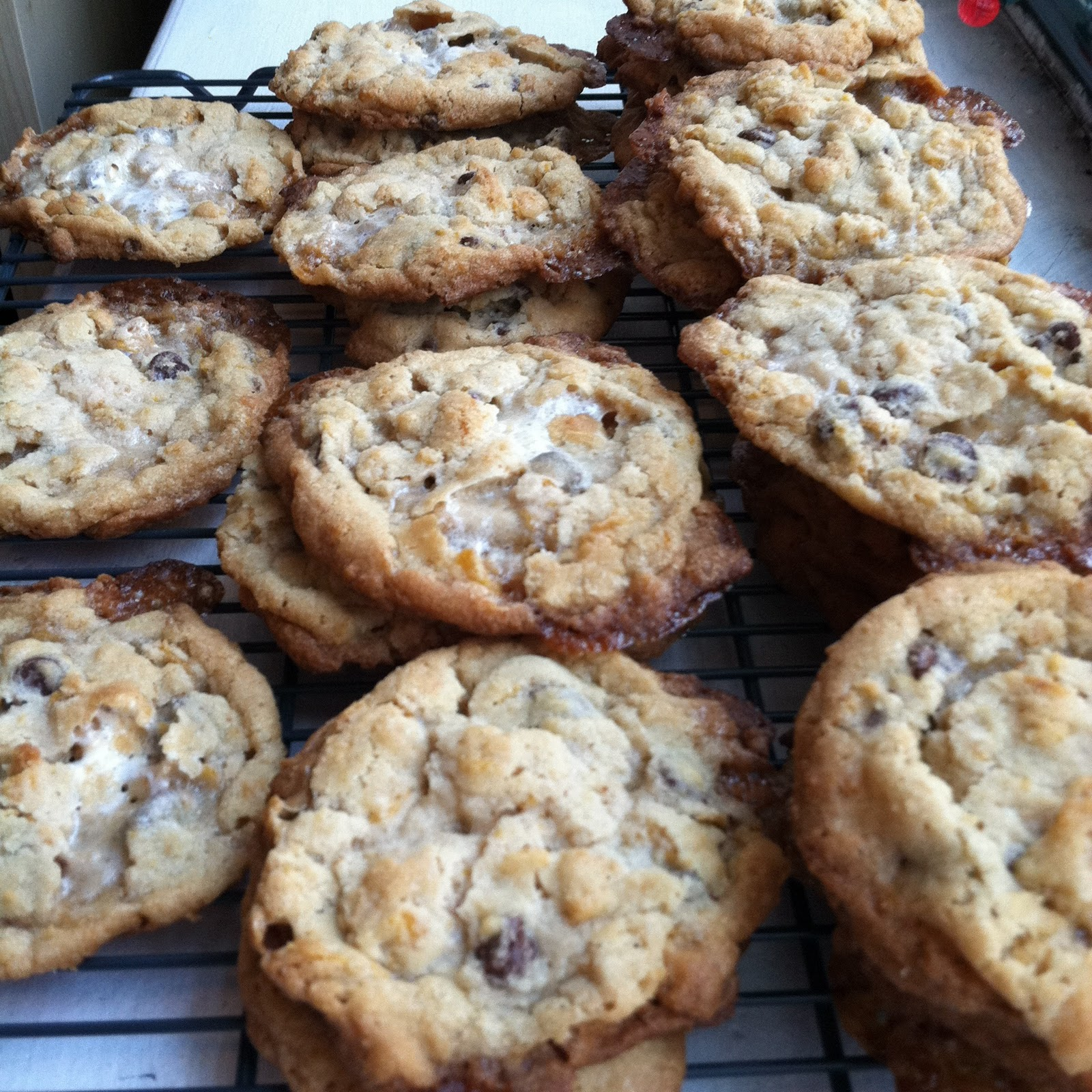 ... Cornflake Chocolate Chip Marshmallow Cookies can also add chocolate