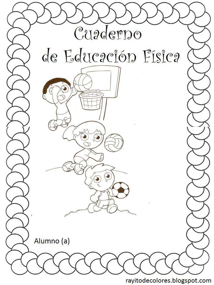 carátula escolar para educación física