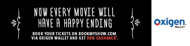 Bookmyshow Oxygen wallet cashback offer poster