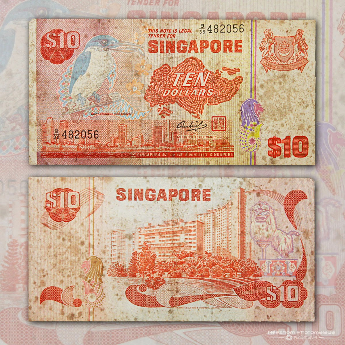 Singapore banknote 10 Dollars Bird Series
