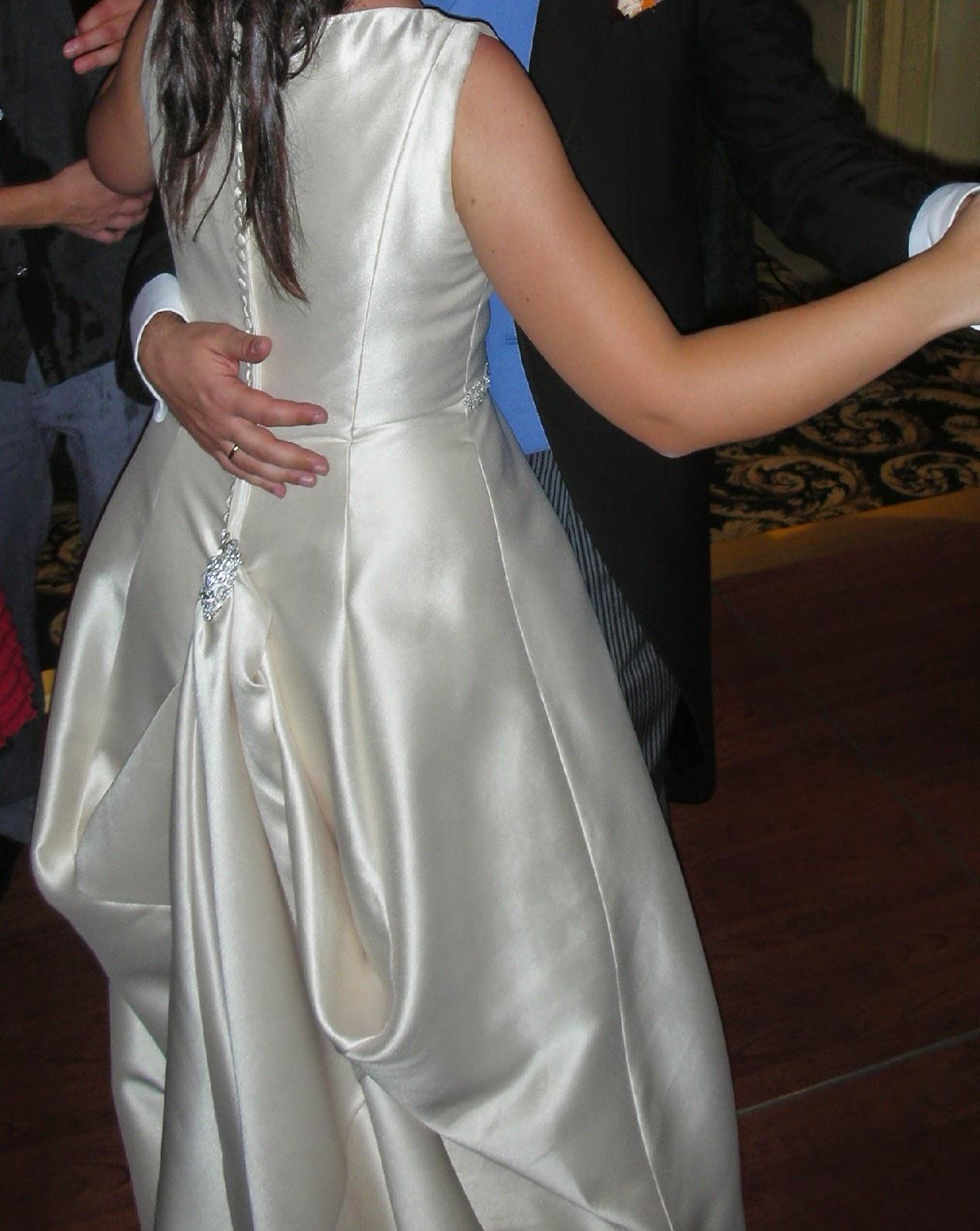Como hacer vestido de novia con cola