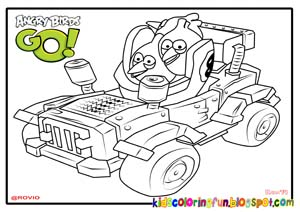 Tri-Toaster Angry Birds Go Coloring Pages