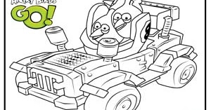 Angry birds go coloring page