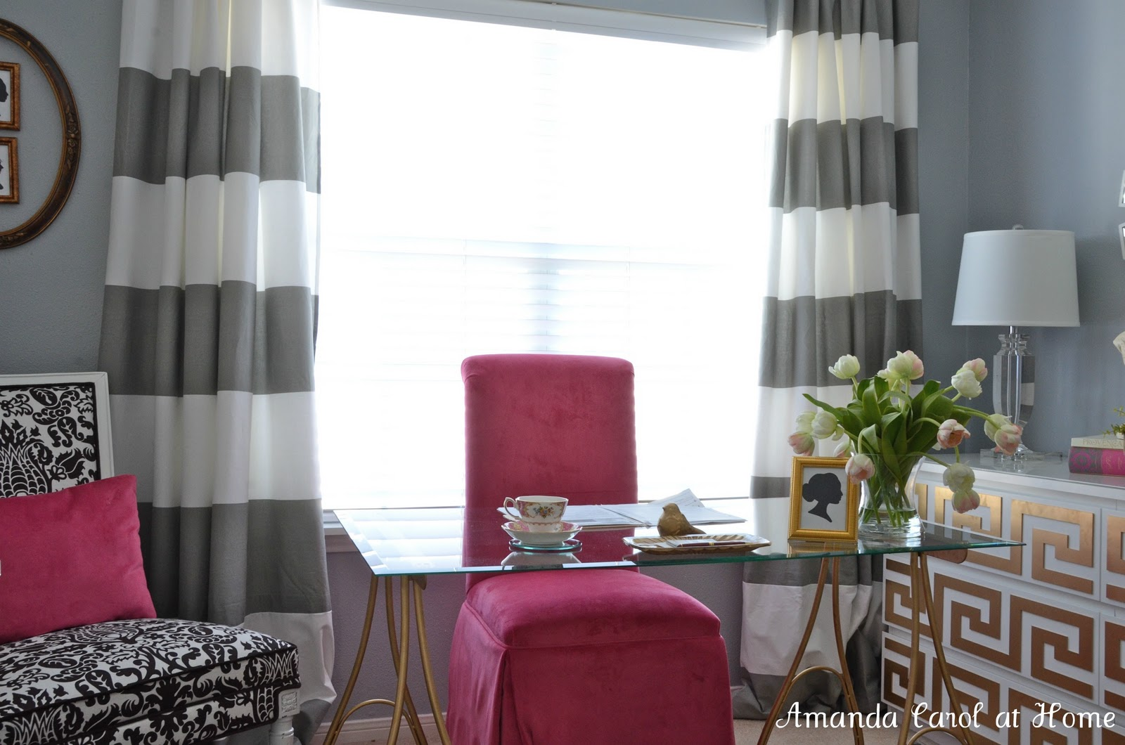 Horizontal stripe curtains - Horizontal Stripe Drapery