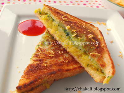 masala toast sandwich, masala sandwich, Indian sandwich recipe, potato masala sandwich, vegetable sandwich