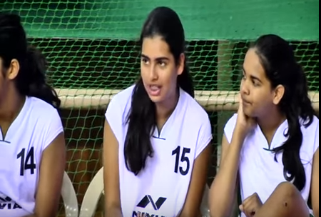Congress scion Priyanka Gandhi's daughter Miraya Vadra is playing in the ongoing 42nd sub-junior  basket ball tournament in Pondicherry representing Haryana.  The tall and fit 14-year-old played her first match against Tamil Nadu at the Uppalam indoor stadium on Tuesday and was not much of a help as  her team lost 80-58 to the stronger opponents.