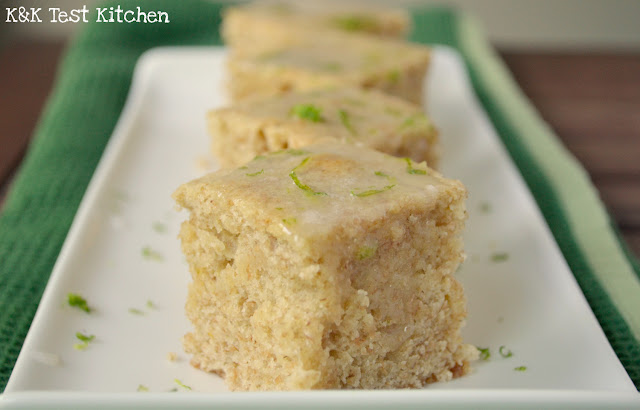 beer blondies with lime glaze recipe