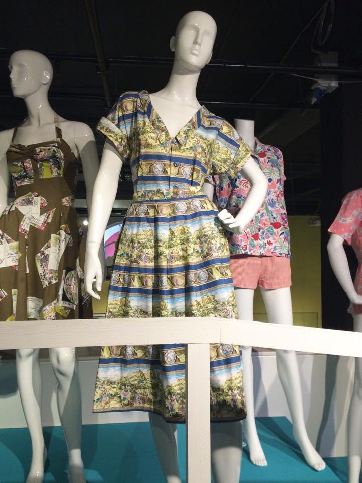 Beach ensemble, printed cotton, fashion blogger, retro, vintage