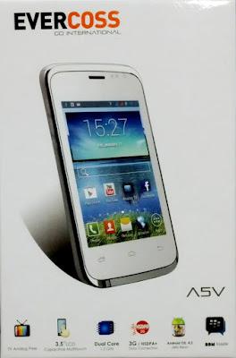 Harga Spesifikasi Smartphone Evercoss A5V Terbaru
