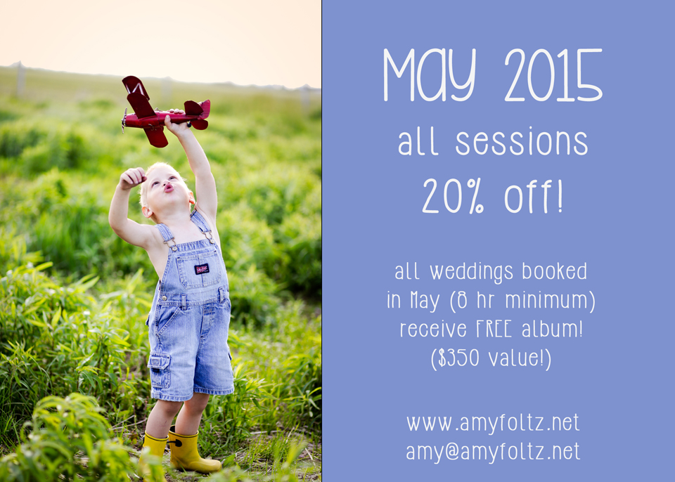 May 2015 Special Pricing