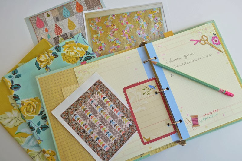 inspiration notebook and fabric