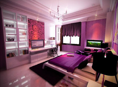 Simple Ideas For Purple Room Design