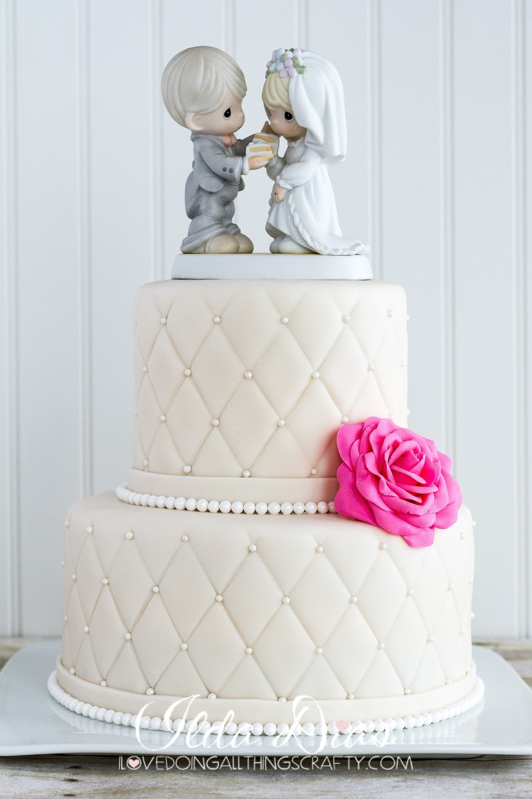 I Love Doing All Things Crafty: Karen's Quilted Wedding Cake and Card : quilted wedding cake - Adamdwight.com