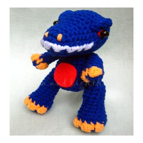 Kawaii Amigurumi Crochet Pattern-T-rex Sea and ...