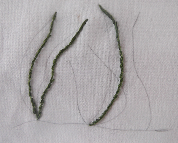 Textile Arts Now Tutorial 05 How To Stitch Narrow Long Plants