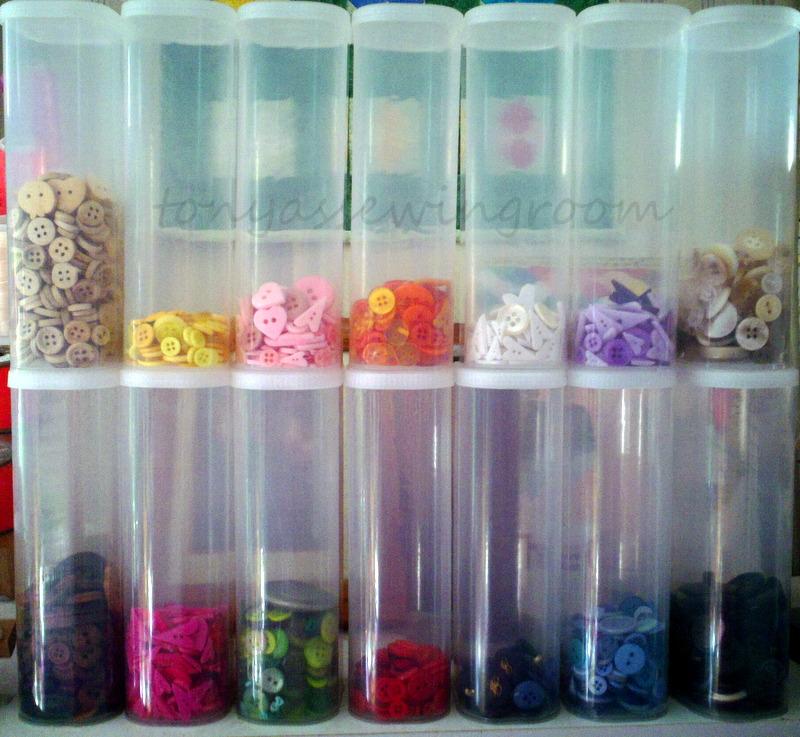 Tonyas Sewing Room Button Storage