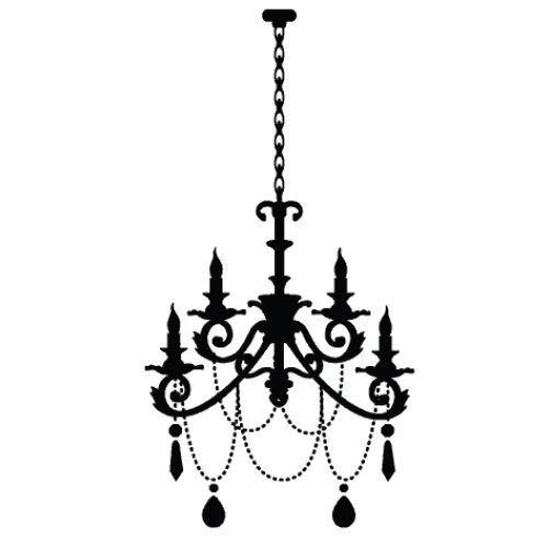 Miss petunia just arrived chandelier wall decal make any room in your house luxuriously glamorous with the easy application of your own chandelier available in black white silver or gold only r 199 mozeypictures Images
