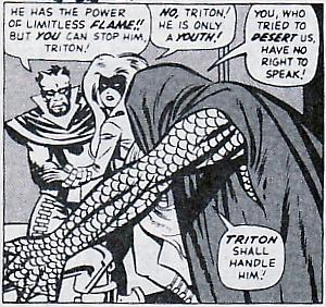 Fantastic Four #45, Triton, Medusa, Gorgon