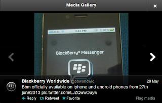 Twitter: Blackberry Messenger(BBM) untuk Android dan iOS Resmi Hadir 27 Juni