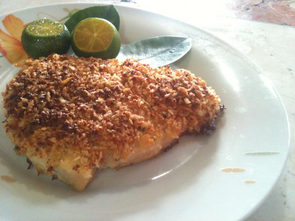 Burple parmesan crusted baked fish for Parmesan crusted fish