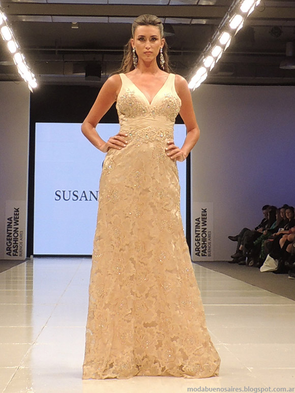 Susana Ortiz primavera verano 2015. Vestidos largos verano 2015.