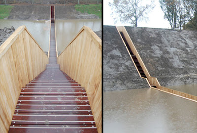 Sunken Pedestrian Bridge in the Netherlands