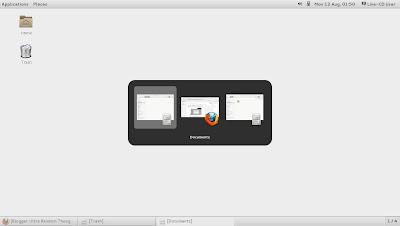 openSUSE 13.1 Milestone 4, GNOME live ISO Alt Tab