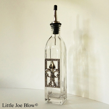 fleur de lis oil bottle by ganz sold by little joe blow photo 1