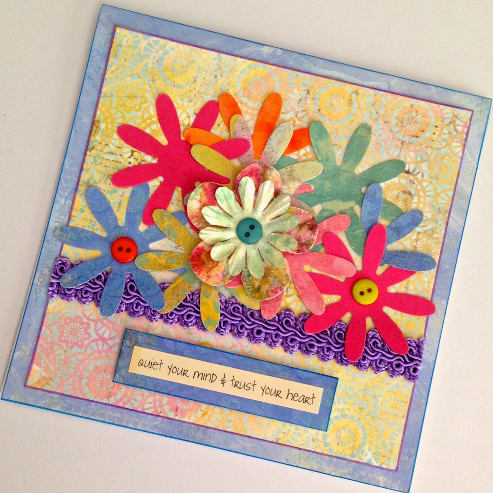 spring flowers handmade greeting card lisa fulmer