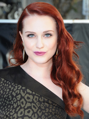 Evan Rachel Wood's lush waves give off a glamorous Old Hollywood vibe.