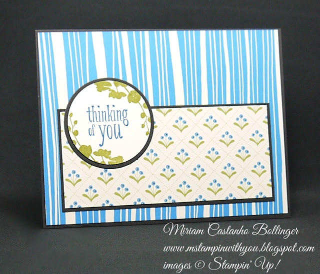 "Miriam Castanho-Bollinger, #mstampinwithyou, stampin up, demonstrator, ppa, get well, sympathy card, pretty petals dsp, peaceful petals, world of dreams, 1-3/4"" circle punch, big shot, circles framelit collection, su"