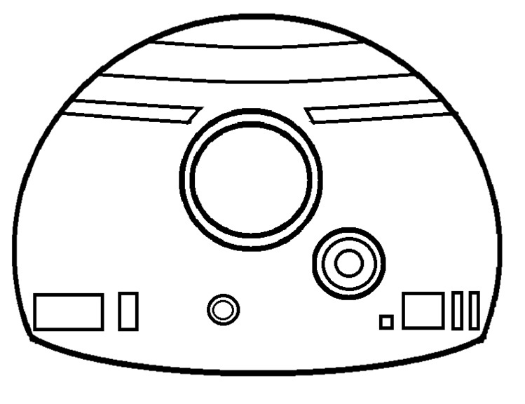 Bb8 droid coloring pages coloring pages for Bb8 coloring page