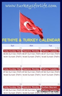 Fethiye & Turkey Events Calendar
