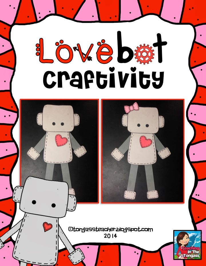 http://www.teacherspayteachers.com/Product/Love-Robot-Valentine-Craftivity-1061247